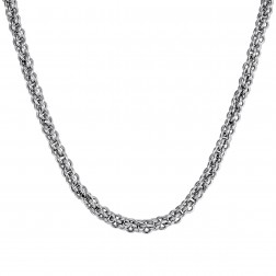 22 Inch Basket Chain in Stainless Steel – 8mm Diameter – Fashion Chain
