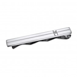 Stainless Steel Tie Bar with Accent Cubic Zirconia
