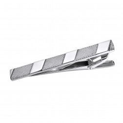 Ritzy High Contrast Textured Stainless Steel Tie Bar