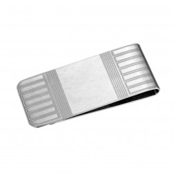 Matte Geometric Titanium Money Clip – Chic Gift Idea