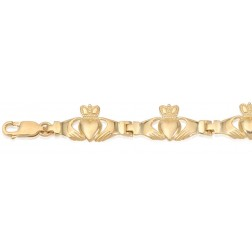 10K Yellow Large Claddagh Bracelet