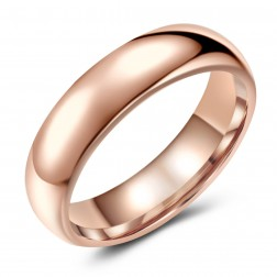 Stunning Rose-Tone Tungsten Ring Band - Wedding - 6mm - Fashion - High Polish Finish - Unisex - Engravable - Domed