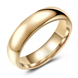 Swanky Gold-Tone Tungsten Ring Band - Wedding - 6mm - Fashion - High Polish Finish - Unisex - Engravable - Domed