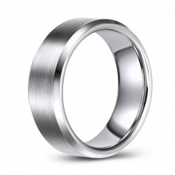 Comfort Fit Tungsten Wedding or Fashion Ring