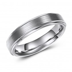 Chic and Fashionable Tungsten Wedding Band