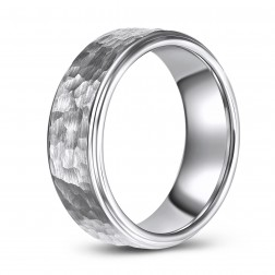 Hammered Comfort Fit Tungsten Wedding or Fashion Ring