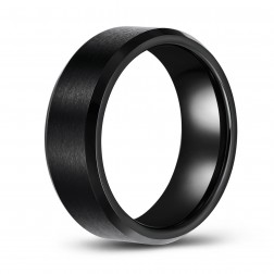 Black Brushed Finish Tungsten Wedding or Fashion Ring
