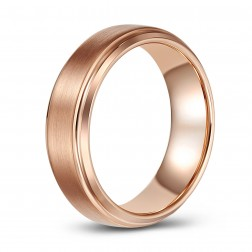 Rose Gold Toned Tungsten Wedding or Fashion Ring