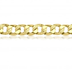 Mens 10K Yellow Gold Nugget Bracelet
