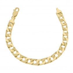 Mens 10K Yellow Gold High Polished Bracelet
