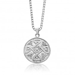 Sterling Silver Celtic 4 Way Trinity Knot Pendant
