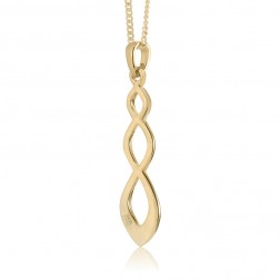10K Yellow Gold  Cascading Celtic Twist Pendant