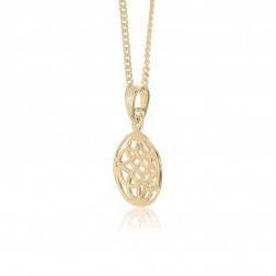 10K Yellow Gold Celtic Knot Pendant