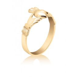 Ladies 10K Yellow Gold Claddagh Ring