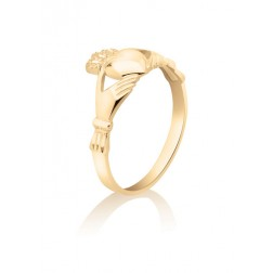 Ladies Claddagh Promise Ring – 10K Yellow Gold – Engagement – Marriage – Heritage – Engagement