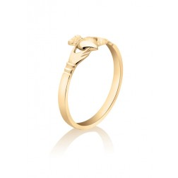 Ladies Claddagh Ring in 10K Yellow Gold
