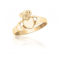 10K Yellow Gold Irish Claddagh Ring