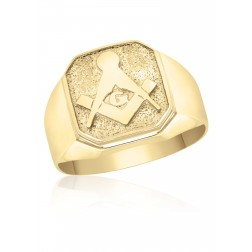 10K Yellow Gold Masonic Fraternity Ring