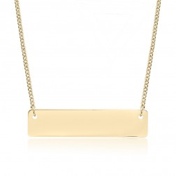 Small 10K Yellow Gold Horizontal Bar Pendant