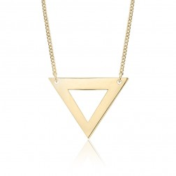 Large 10K Yellow Gold Triangle Pendant