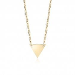 Small 10K Yellow Gold Triangle Pendant