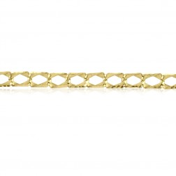 Mens 10K Diamond Cut Bracelet