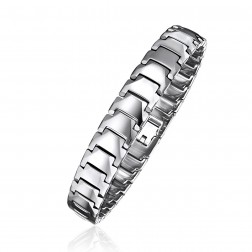 Mens Stainless Steel High Polished Bracelet