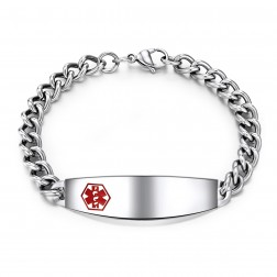 Stainless Steel Medical ID Bracelet