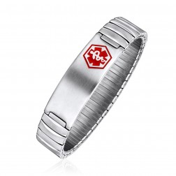Stainless Steel Stretchy Medical ID Bracelet