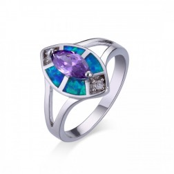 Marquis Amethyst and Blue Opal