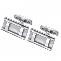 Ladder Style Stainless Steel Cufflinks