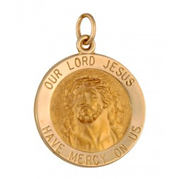 Our Lord Jesus – Have Mercy On Us 18.5mm 14K Yellow Gold Pendant