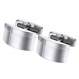 Geometric Dome Stainless Steel Cufflinks
