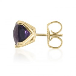 Antique Genuine Amethyst Studs