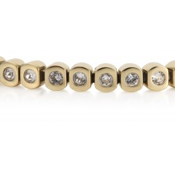 Gold Plated Tennis Bracelet With Cubics