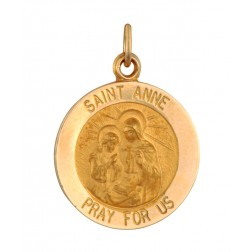 Saint Anne 15.5mm 14K Yellow Gold Pendant Charm