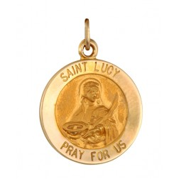 Saint Lucy 15.5mm 14K Yellow Gold Pendant Charm