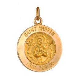Saint Martin 15.5mm 14K Yellow Gold Pendant Charm