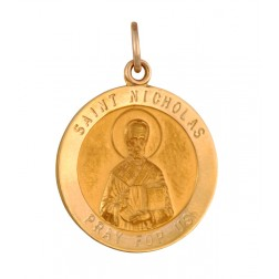 Saint Nicholas 18.5mm 14K Yellow Gold Pendant Charm