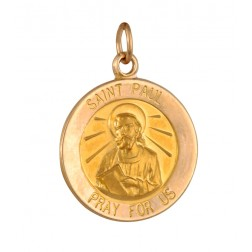 Saint Paul 15.5mm 14K Yellow Gold Pendant Charm