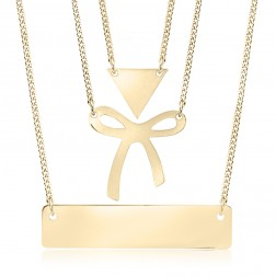 10K Yellow Gold Bow Pendant