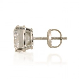 14K White Gold Cubic Studs