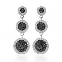 Sterling Silver Dangling Cubic Earrings