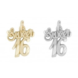Sweet 16 Charm - 10K Yellow Gold/Sterling Silver